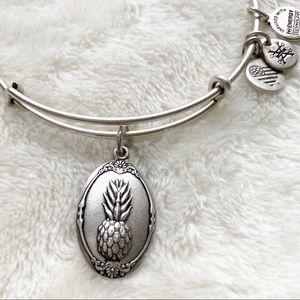 Alex and Ani pineapple charm bracelet